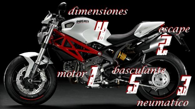 Estos son los puntos en una 796 que son diferentes a una Ducati Monster 696.. ta  bonito eh?