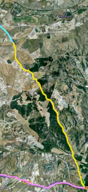 Zona de curvas en el recorrido de los K-Days, si quieres conocer el mapa entero está descrito en este post