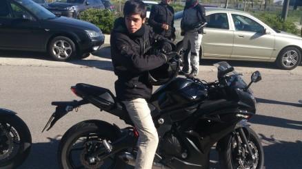La primera de la mañana... esta moto me gusta... tanto que pongo cara de 'flipao' jajajaja