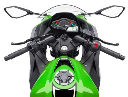 Kawasaki Ninja 300 vista del piloto